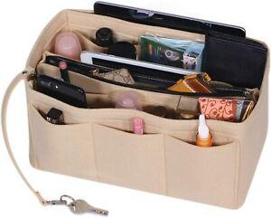 Felt Handbag Insert Zipper Organizer, Travel Kung Fu Tea Set, Reusable Utensils