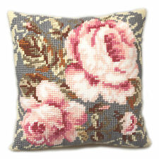 1x Cross Stitch Kit Cushion Ancient Rose Sewing Craft Tool Hobby Art UK
