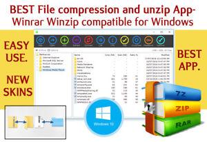 file compression and unzip - Winrar Winzip compatible for Windows BEST & EASY