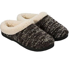 Dearfoams Memory Foam Slippers Women US 5 Black SLIPPER