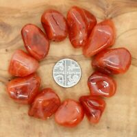 11 x Carnelian Tumblestones 20-25mm Crystals 110g+ Wholesale Therapists Reiki