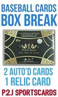 2021 TOPPS TIER ONE MLB HOBBY Baseball Card Box Break - 1 RANDOM Team Break 4942