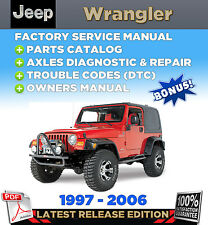 Repair manuals literature ebay jeep wrangler tj 1997 2006 2005 2004 2003 service repair manual parts catalog fandeluxe