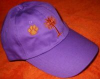 UNISEX PURPLE🐾Orange CLEMSON TIGERS COLLEGE SC PAW PALM Hat Adjustable Baseball