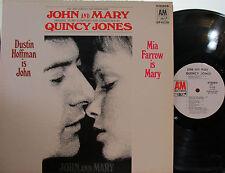 John and Mary (Soundtrack) (A&M) (PL) (Dustin Hoffman,Mia Farrow) (Quincy Jones)