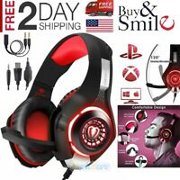 RED Pro Gaming Headset W/ Mic XBOX One Wireless PS4 Headphones Microphone Beats