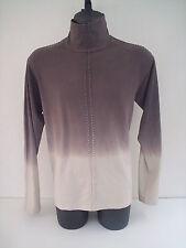 T-shirt Roberto Cavalli,collo dolce vita,colore grigio sfumato,tg 56