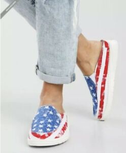 Hey Dude Star Spangled Lexi shoes mules Size 7 American Flag SOLD OUT EVERYWHERE