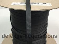 "5 YARDS OF 3/8"" Inch MilSpec Webbing Binding Ribbon MIL-T-5038J Grosgrain BLACK"
