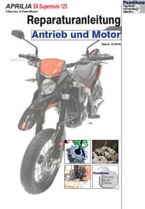 Reparaturanleitung RIS Aprilia SX Supermoto 125, 4T, Antieb und Motor