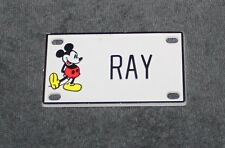 Vintage Walt Disney Prod. Mickey Mouse Name Ray Plastic License Plate