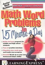 Math Word Problems in 15 Minutes a Day by LearningExpress Staff (2009, Paperbac…