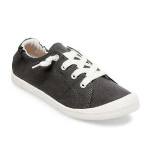 Madden Girl BAAILEY Sneakers Super Comfy Slip-on Dark Grey Canvas Women US 6.0