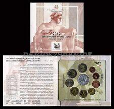 DIVISIONALE UFFICIALE MONETE  EURO ITALIA 2012 + ARGENTO CAPPELLA SISTINA _ FDC