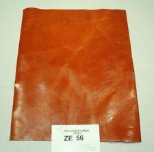 """WOW! Extra Bloody Orange Craft Leather Piece 9.5"""" x 12"""" ZE56-9512"""