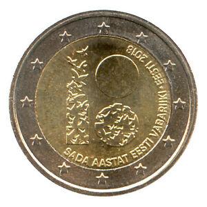2 Euro Münze Estland 2018 Unabhängigkeit Gedenkmünze Sondermünze