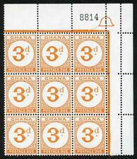 Ghana SGD15 3d Orange block of 9 U/M