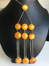 Old Yellow color Baltic Amber necklace (26 g.) 325E