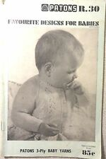 VINTAGE PATON'S  KNITTING PATTERN BOOK NO. 30 BABY KITWEAR