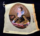 Royal Paris Micro Needlepoint Finished Embroidery Victorian Lady Portrait  8 x 6