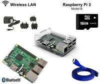 Raspberry Pi 3 16gb Noobs Complete Starter Kit with Clear Case + HDMI