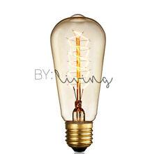 4 x industrial vintage Thomas Edison light bulb filament 40w Globe E27 ST64