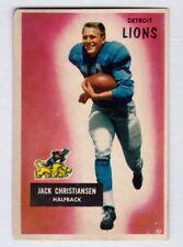 1955 Bowman #28 Jack Christiansen Detroit Lions Near Mint condition no creases