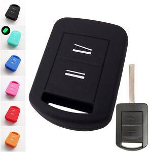 Silicone Key Case Cover For Vauxhall Opel Corsa C Combo Meriva Tigra Remote Fob