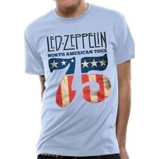 LED Zeppelin US 75 Mens T-shirt Licensed Top Blue XL