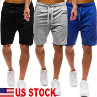 Men Summer Casual Shorts Athletic Gym Sports Training Swimwear Short Pants US