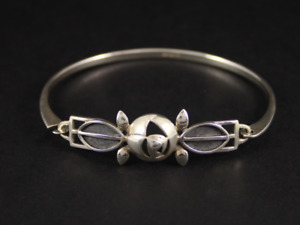 Charles Rennie Mackintosh Bangle Sterling Silver Ladies Bracelet 925 11.6g Kb4