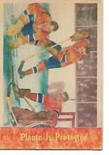 1955-56 - PARKHURST HOCKEY CARD - NO. 71 - PLANTE IS PROTECTED
