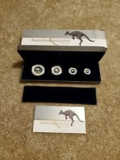 2017 Australian Kangaroo Silver Proof Four Coin Fractional Set Perth Mint RARE