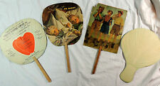 4 Vintage Paper Hand Fans Electrolux, Rhubarb Laxative, Furniture, Insurance