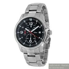 S.OLIVER Uhr Herren Chronograph Armbanduhr Edelstahl wasserdicht 100m SO-2377-MC