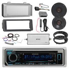 "Kenwood Marine CD Radio, 2x Infinity 6.5"" Shallow Speakers, Amp, Accessories"