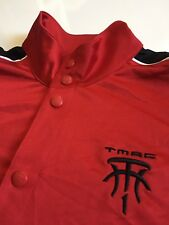 Adidas TMAC Men's  S Red Black Snap Button Front Short Sleeve Shirt