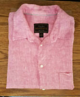 JOS A BANK  Reserve Collection Traditional Fit Linen Shirt Mens Large Pink