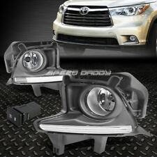 FOR 14-16 TOYOTA HIGHLANDER FRONT BUMPER FOG LIGHT LAMPS W/BEZEL COVER+SWITCH