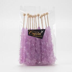 12 pcs Lavender Tutti Frutti Rock Candy | The Sugar Crystal Company | 15 Colours