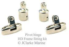 "1"" HD range boat canopy pivot hinge frame fittings kit sprayhood binimi cover 2"