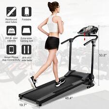 Folding Treadmill Electric Motorized Running Machine Home Gym w/APP & MP3 Player