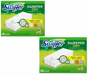 Swiffer Dry Sweeping Cloths Refills 16 Sheets Pack of 2 Gain Original Scent