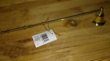 All Brass Bell Candle Snuffer 12 Inches Long New with tags