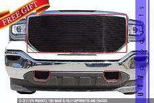 GTG 2016 2017 GMC Sierra 1500 3PC Gloss Black Billet Grille Grill Insert Kit