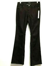 White House Black Market Women's Noir Black Embellished Jeans Flare Size 2 Reg