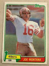 Joe Montana 1981 Topps Rookie #216 San Francisco 49ers