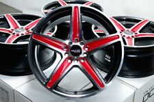 "16"" Wheels Civic Accord PT Cruiser Es350 Mx-5 Miata Impreza Black Red Rims 5 Lug"