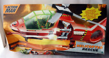 VERY RARE 2000 ACTION MAN RESCUE HELICOPTER HASBRO NEW SEALED DAMAGED BOX