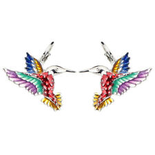 Fashion Hummingbird Eagle Earring Stud French Clip Enamel Jewelry For Women Gift
